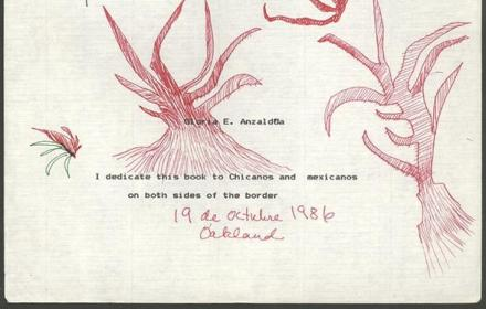 Gloria Anzaldua, 1986 draft of Borderlands/La Frontera