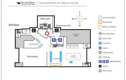 Fine Arts Third Floor Map